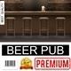 Realistic Pub Interior Poster - GraphicRiver Item for Sale