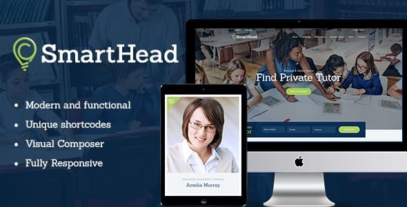 SmartHead | Tutoring Service & Online School WordPress Theme
