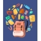 Backpack Poster for Kids School - GraphicRiver Item for Sale