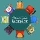 Colored School Backpacks Set - GraphicRiver Item for Sale