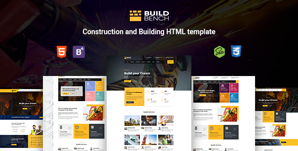 Buildbench - Construction, Building HTML Template