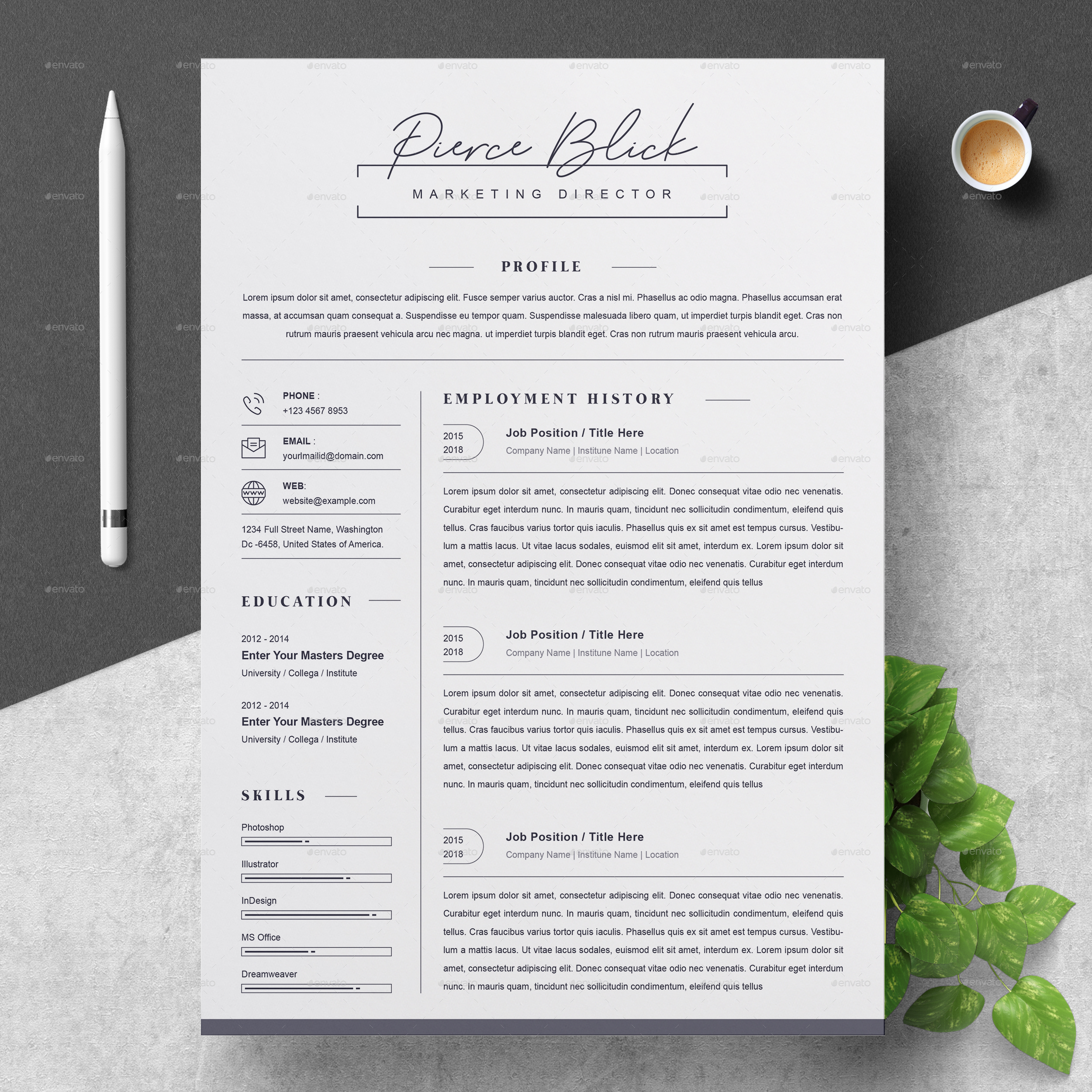 clean resume by resumeinventor