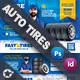 Auto Tires Postcard Bundle Templates - GraphicRiver Item for Sale