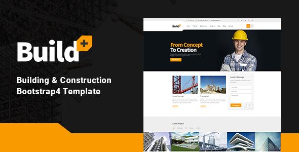 BuildPlus – Construction Bootstrap 4 Template