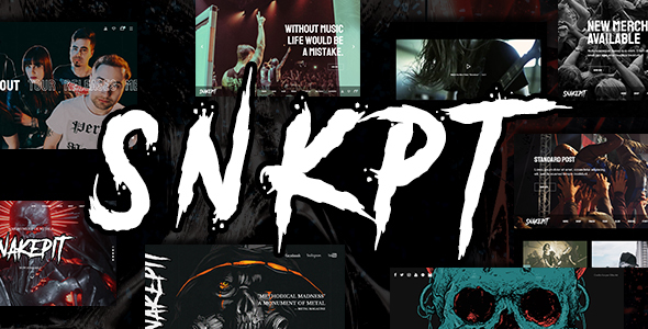 Snakepit – A Rock and Metal Oriented Music WordPress Theme Free Download