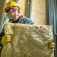 Worker with Wool Insulation - PhotoDune Item for Sale