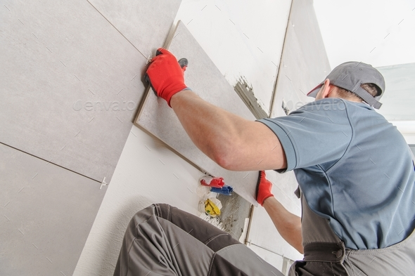 Bathroom Tiles Remodeling - Stock Photo - Images