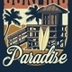 Vintage Hawaii Surfing Concept - GraphicRiver Item for Sale