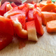 Chopped Pepper and Carrot on Kitchen Table - PhotoDune Item for Sale