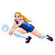 Isolated Volleyball Girl Player - GraphicRiver Item for Sale