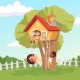 House in Tree - GraphicRiver Item for Sale