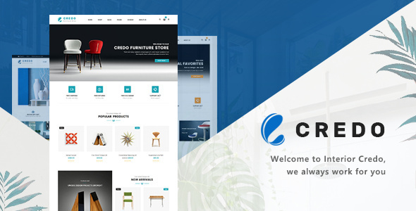 Credo – Furniture Responsive WooCommerce WordPress Theme