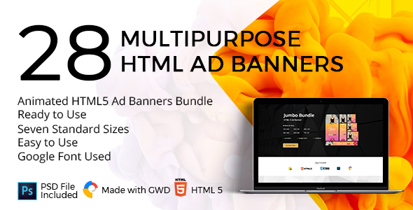 Free Download] The Best-Seller Animated HTML5 Ad Banners