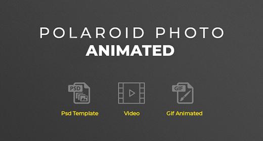 Polaroid Photo Animated Photoshop Template