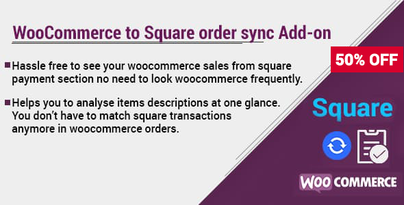WooCommerce to Square order sync Add-on