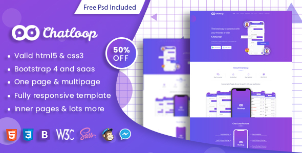 Chatloop - HTML App Landing Page