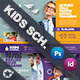 Kids School Postcard Bundle Templates - GraphicRiver Item for Sale