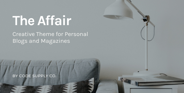 The Affair – Creative Theme for Personal Blogs and Magazines Free Download