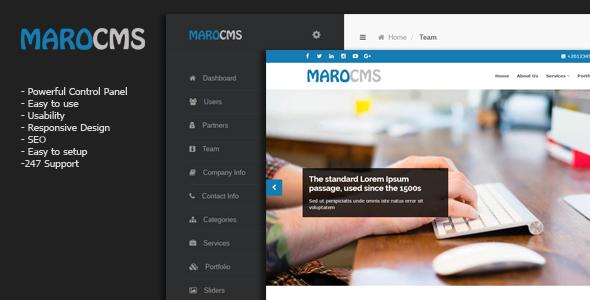MaroCMS –  Business CMS