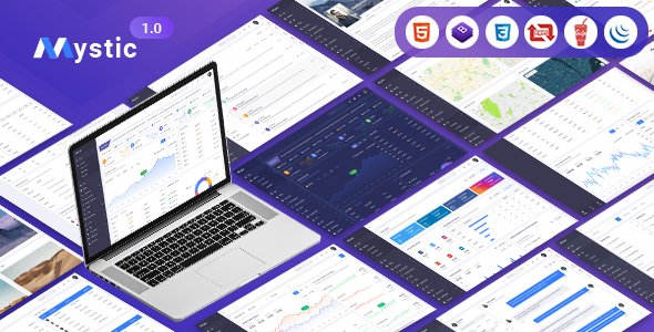 Mystic - Multipurpose Bootstrap 4 Admin Dashboard