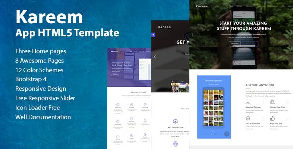 Kareem - Software, App, Landing HTML5 Template