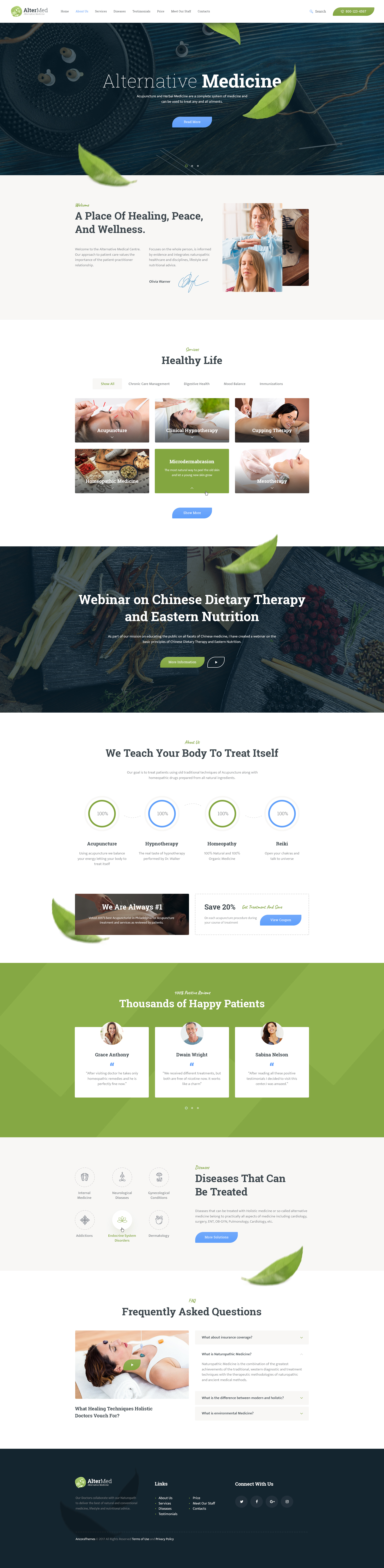 Avicenna | Alternative Medicine WordPress Theme