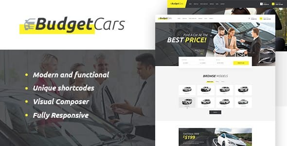 Budget Cars | Used Car Dealer & Store WordPress Theme Free Download