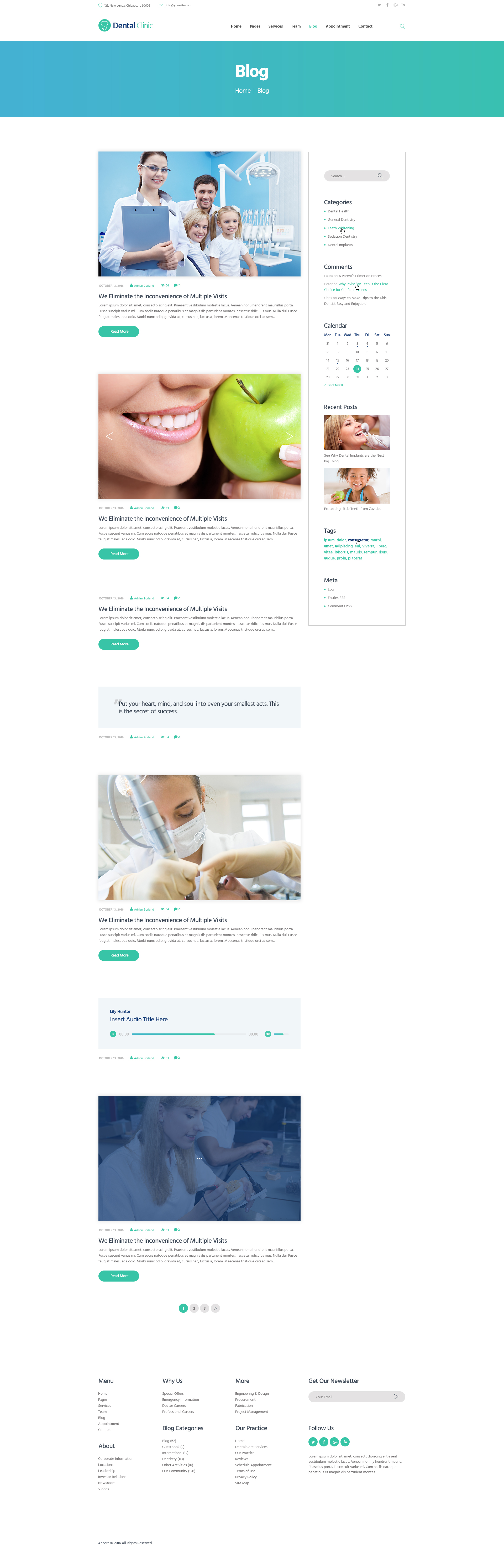 Dental Clinic, Medicine & Healthcare WordPress Theme