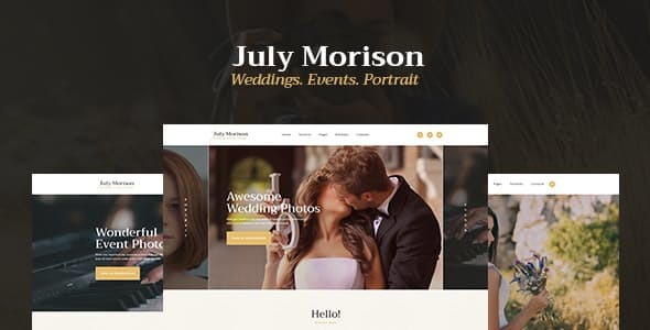 July Morison | An Alluring Event Photographer's Portfolio & Blog WordPress Theme
