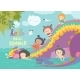 Kids Playing with Dragon at Waterpark - GraphicRiver Item for Sale