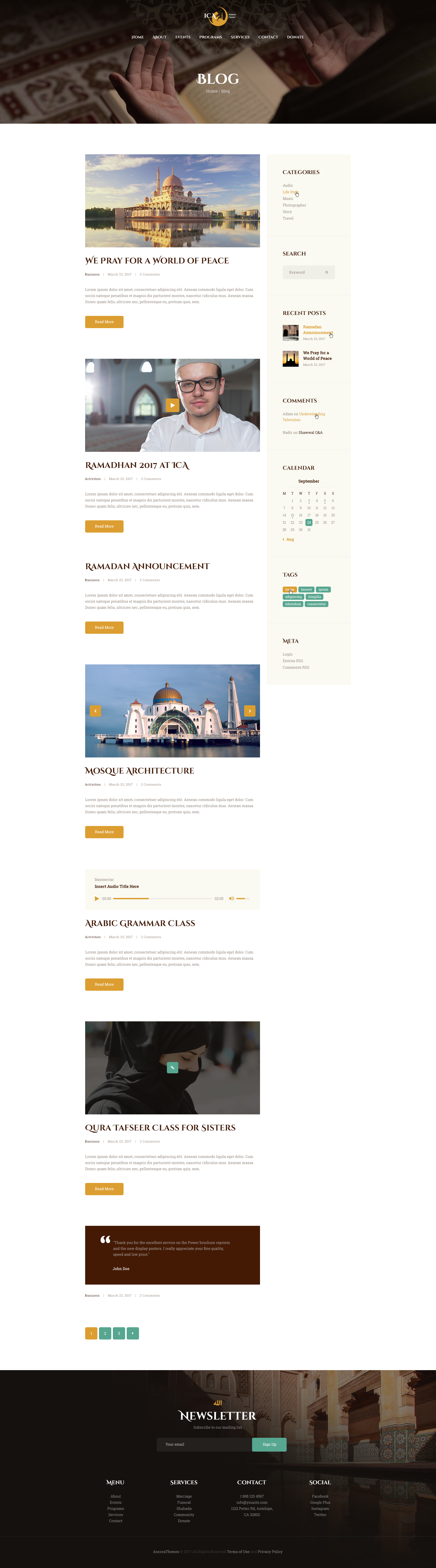 Shaha | Islamic Centre WordPress Theme + RTL