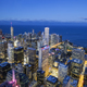 Aerial view of Chicago skyline by night - PhotoDune Item for Sale