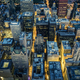 Aerial view of Chicago downtown by night - PhotoDune Item for Sale