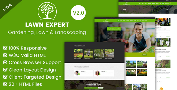 Lawn Expert Gardening Lawn And Landscaping Html Template By Envytheme