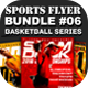 Sports Flyer Bundle 06 Basketball Series - GraphicRiver Item for Sale