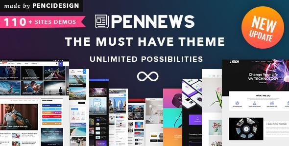 PenNews - News/ Magazine/ Business/ Portfolio/Reviews Landing AMP WordPress Theme