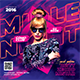 Middle Night Party Flyer - GraphicRiver Item for Sale