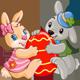 Jumping Easter Marzipan Bunny