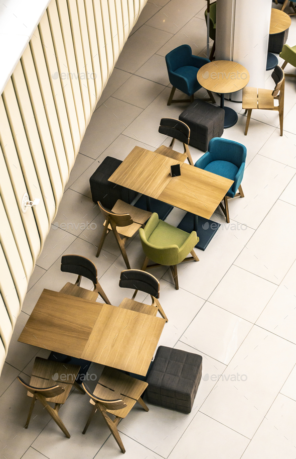 Tables And Chairs In Cafe Ontemporary Design Of Bar Furnishings Stock Photo By Deyangeorgiev