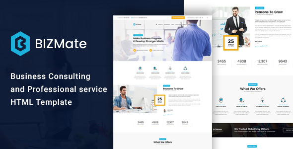 BizMate - Business Consulting and Professional Services HTML Template