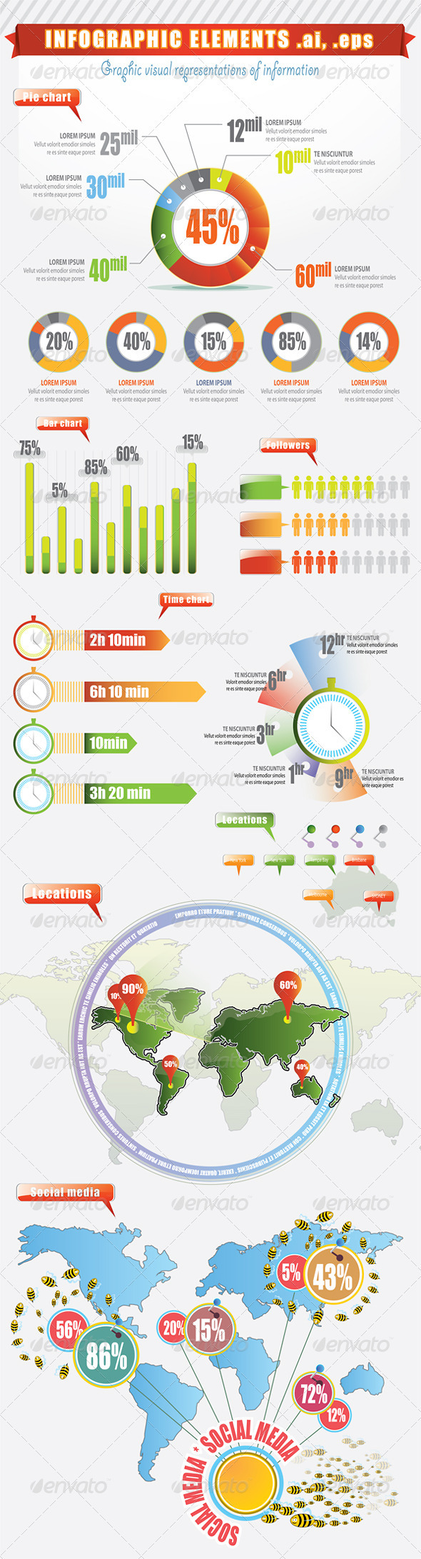Infographic Elements / Visual Representations - Miscellaneous Vectors