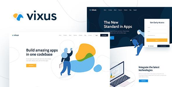 Download Vixus | Startup & Mobile App WordPress Landing Page Theme nulled 01 Vixus