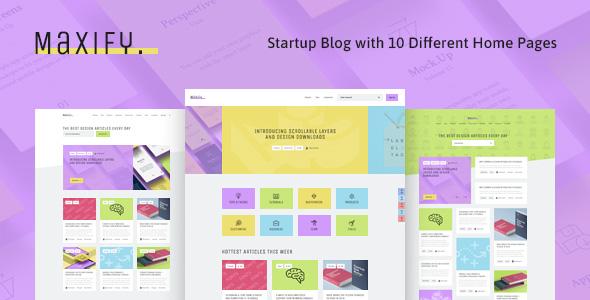 Maxify   Startup & Business News WordPress Blog Theme