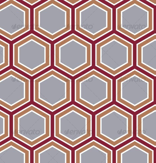 Retro Honeycomb Pattern - Patterns Decorative