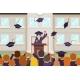 Female Graduate Tribune Speech Crowd Students - GraphicRiver Item for Sale
