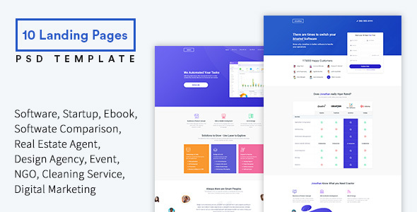 JOBE - Startup & SaaS Landing Pages PSD Template