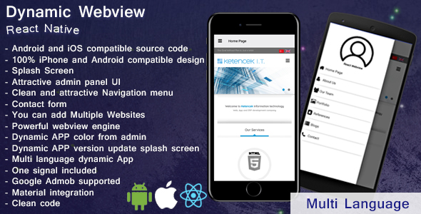 Download] Dynamic Webview | Web2app | iOS | Android | React Native