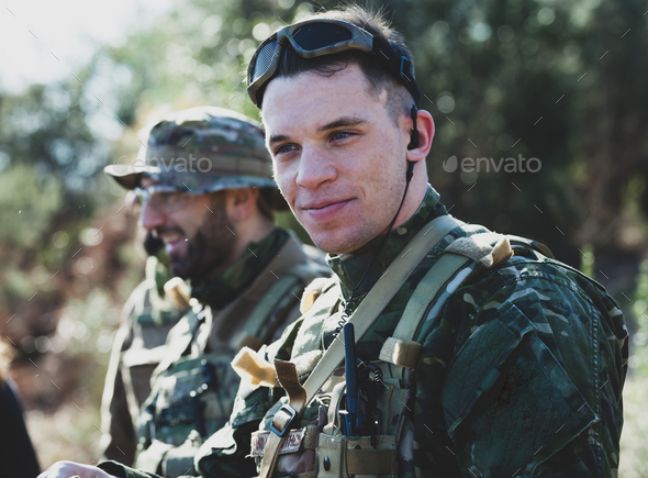 Airsoft military game - Stock Photo - Images
