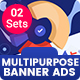 Multipurpose, Business, Startup Banners Ads - 02 Sets - GraphicRiver Item for Sale