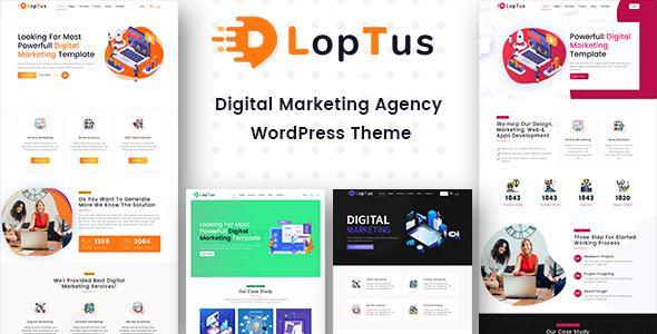 Loptus - Digital Marketing Agency WordPress Theme